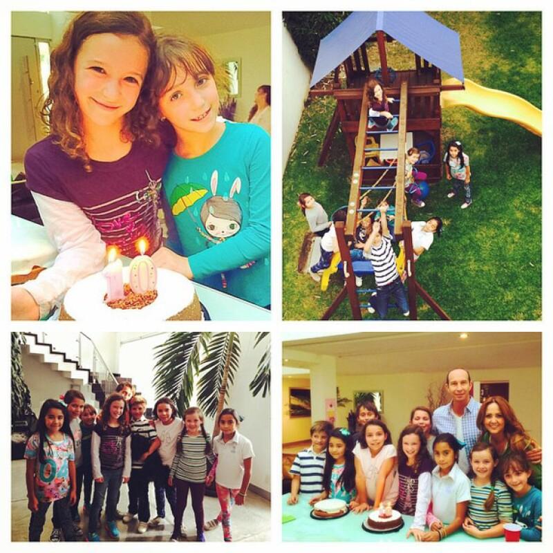 Mía estuvo rodeada de sus personas favoritas en la fiesta de cumpleaños que le organizaron Erik y Andrea.