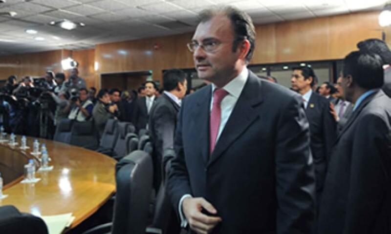 El Secretario de Hacienda,Luis Videgaray Caso, dijo que el país debe tener una meta de déficit cero para evitar la vulnerabilidad por factores provenientes del exterior. (Foto: Notimex)