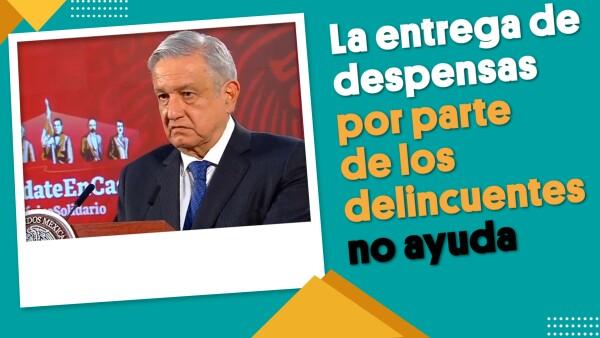La entrega de despensas por parte de los delincuentes no ayuda: AMLO | #EnSegundos