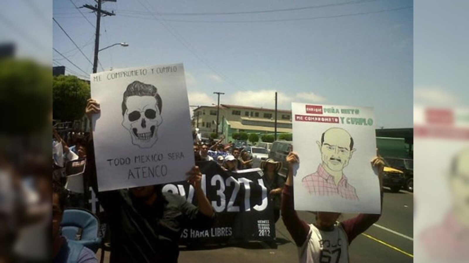 Marcha anti peña en Tijuana
