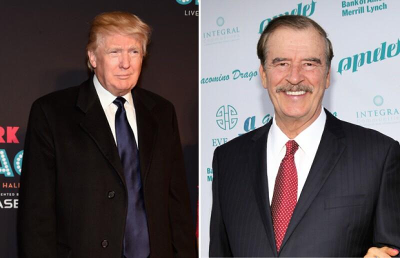 El ex presidente mexicano opinó que el empresario no se merece la fortuna que ha hecho y que debería donarla para resolver el problema de la inmigración.