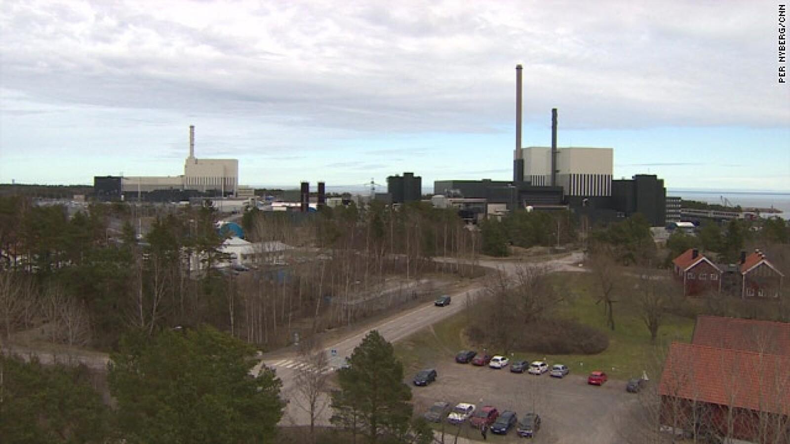 Forsmark ciudad en donde esta uno de los 10 reactores nucleares en Suecia