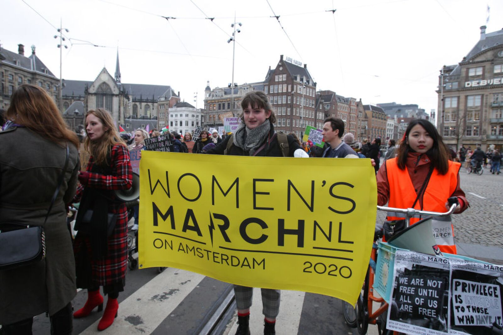 International Women's Day Protest In Amsterdam