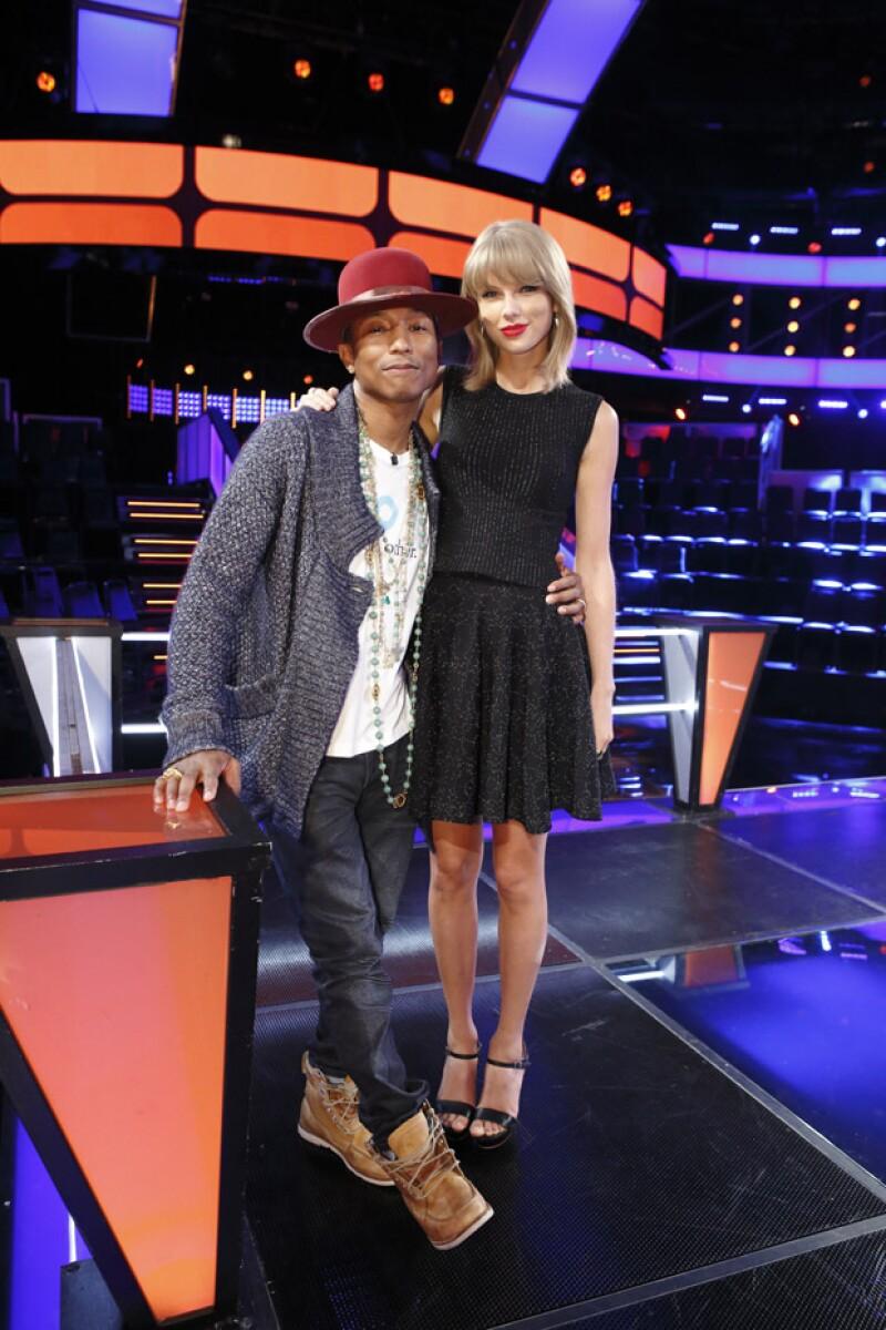 Pharrell y Williams suelen llevarse bien, por lo que la mirada del cantante hacia Taylor pudo no haber sido con mala intención.