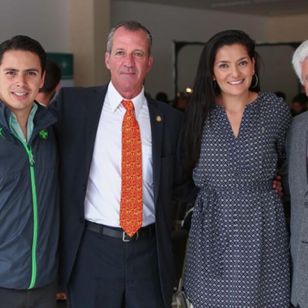 Rodrígo Alba,Féliz Núñez,Mara Niño y Javier Martínez