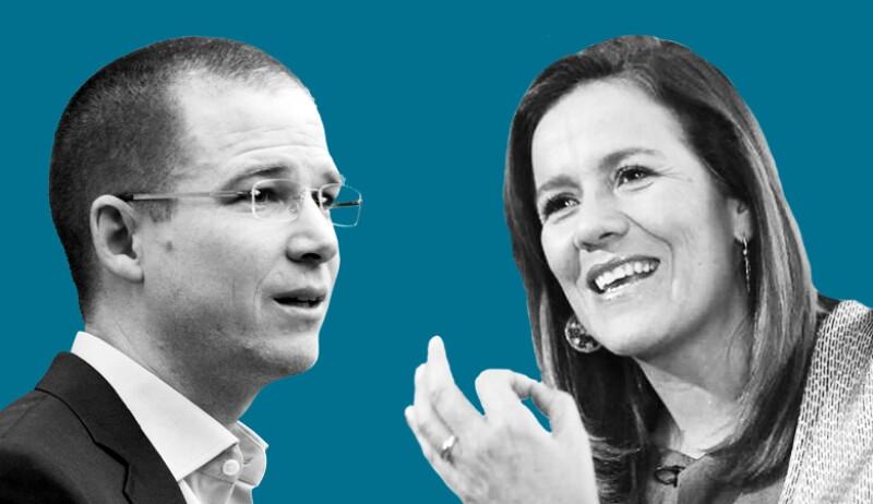 El presidente del PAN, Ricardo Anaya, y la exprimera dama Margarita Zavala encabezan las preferencias para definir la candidatura presidencial del partido en 2018.