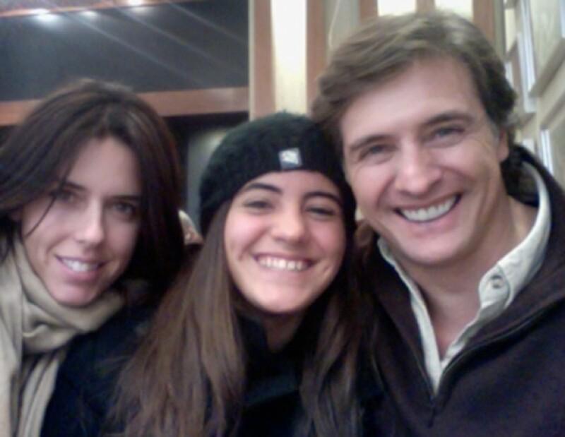 Maki, Valentina y Juan Soler.