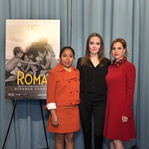 Yalitza Aparicio, Angelina Jolie y Marina de Tavira