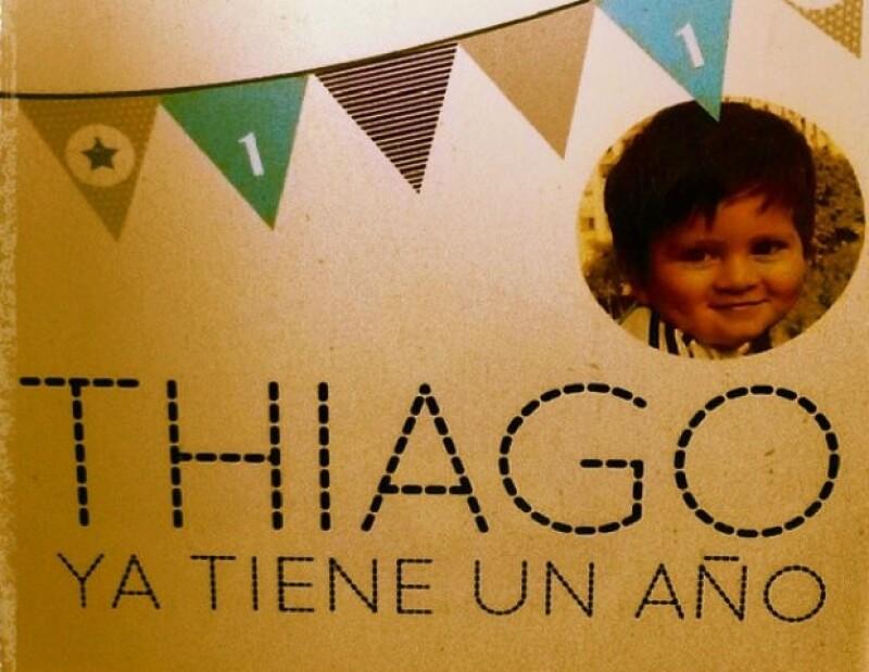 El futbolista compartió una fotografía de la celebración del pequeño Thiago.