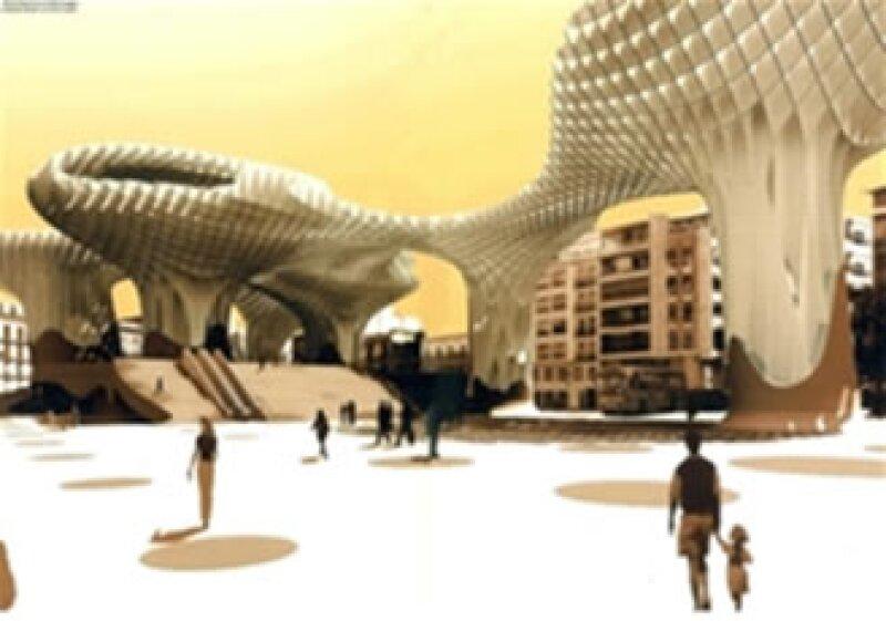 El mayor atractivo de Metropol Parasol es su estructura en forma de enormes parasoles que parecen hongos que tienen una trama que se asemeja a pixeles o a una red. (Foto: Cortesía Arup)