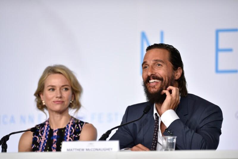 Durante la conferencia de prensa Matthew dijo que estaba bien si la película era ovacionada o abucheada, ¿será?