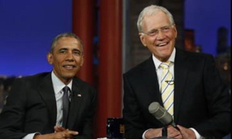 Obama fue uno de los últimos invitados al Late Show de David Letterman. (Foto: Reuters )
