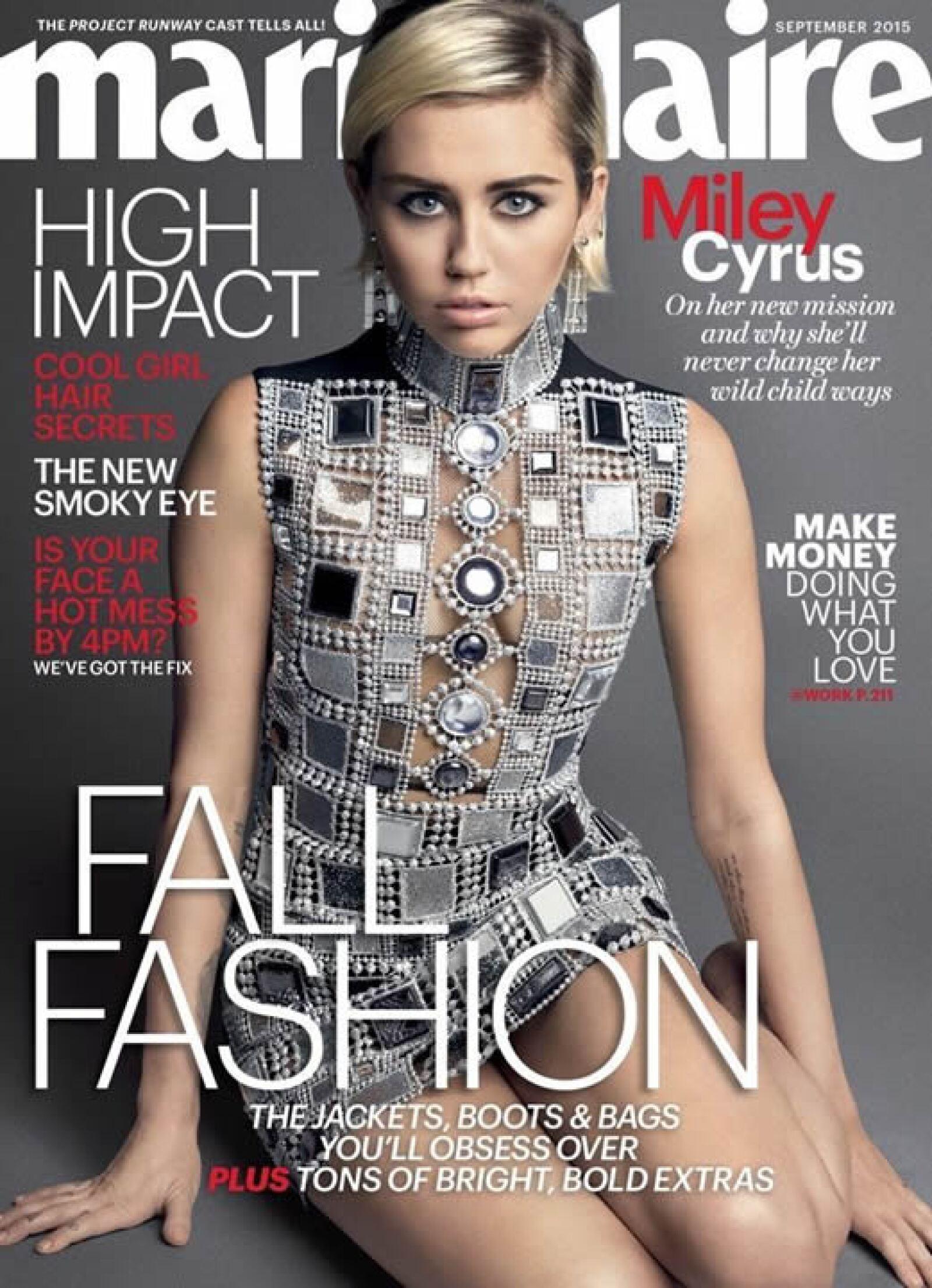 Marie Claire: Con inspiración sesentera, Miley Cyrus aparece en portada con fotos de Mark Seliger.