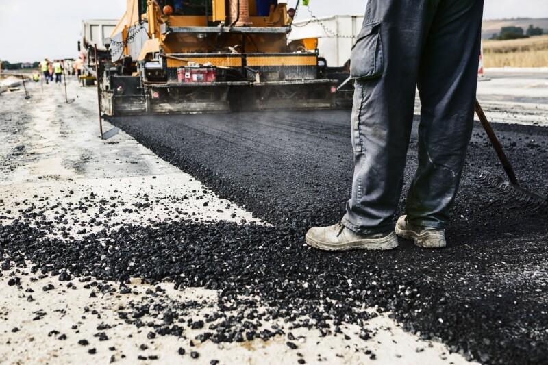 carretera en construcción