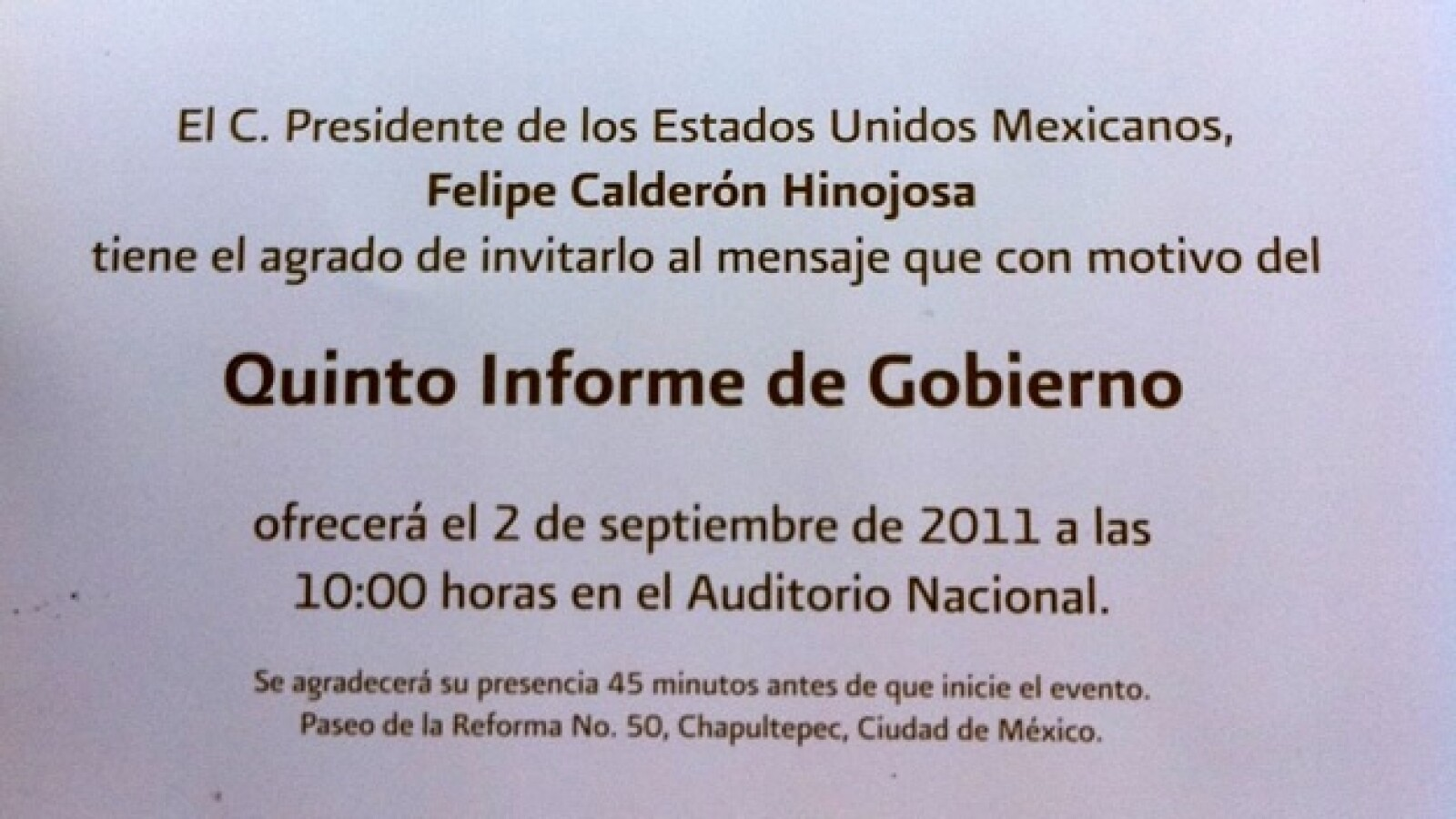 Aspectos quinto informe de gobierno Calderón 10