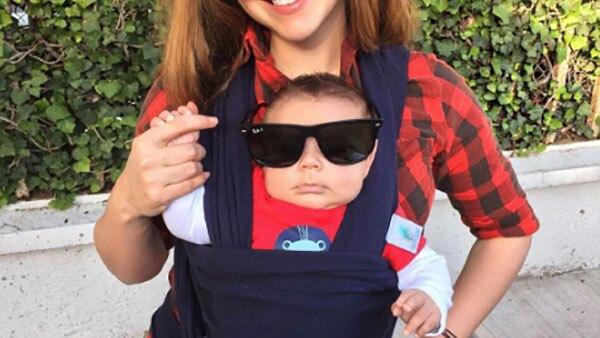 La actriz aseguró que el pequeño Diego aún no cumple los tres meses y ya ronda los siete kilos de peso, hecho que la tiene sorprendida y agradecida.