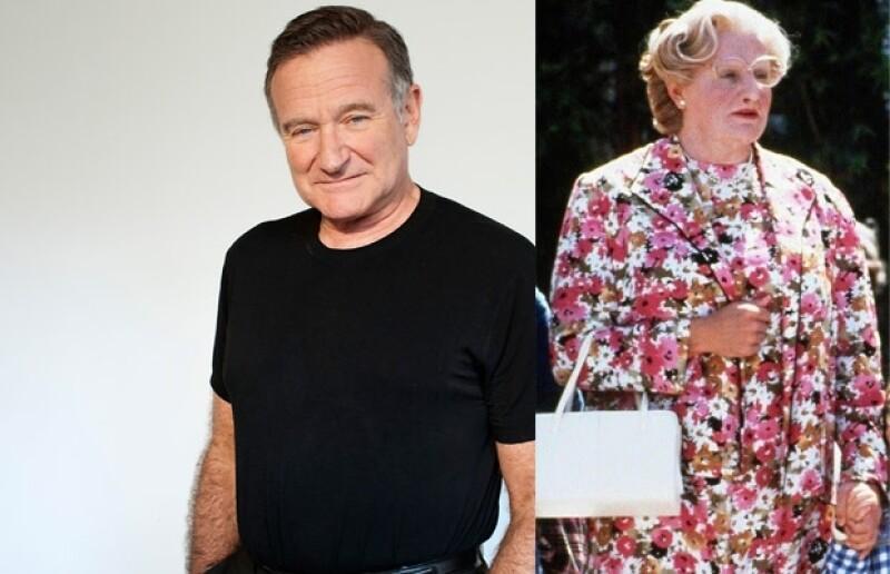 Robin Williams se transformó en Mrs. Doubtfire.