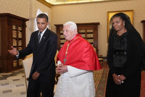 Los Obama también se reunieron con Benedicto hace unos años.