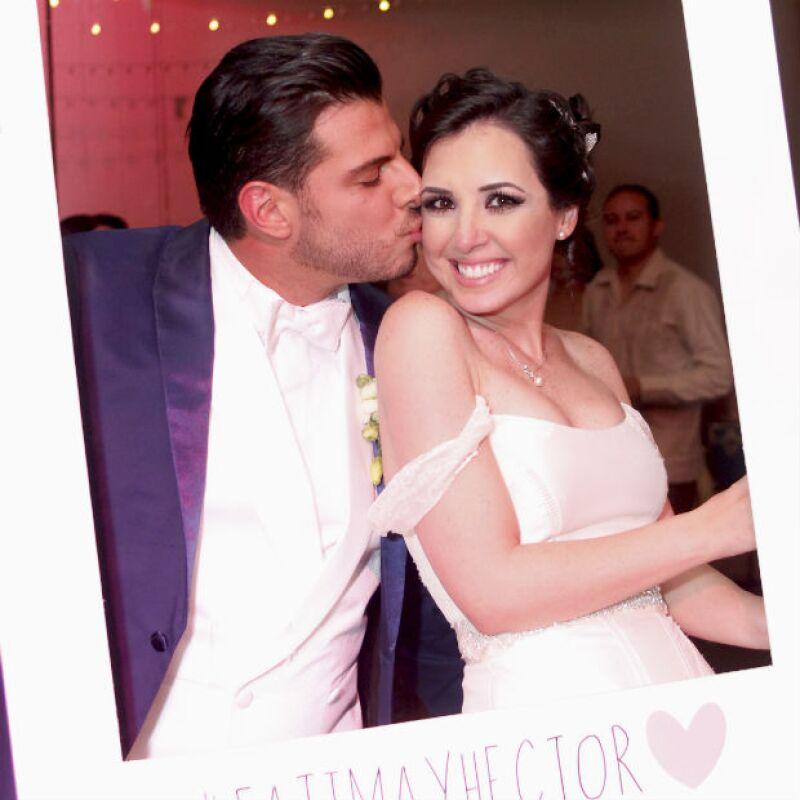 Fátima y Héctor durante el gran día de su boda en Querétaro.