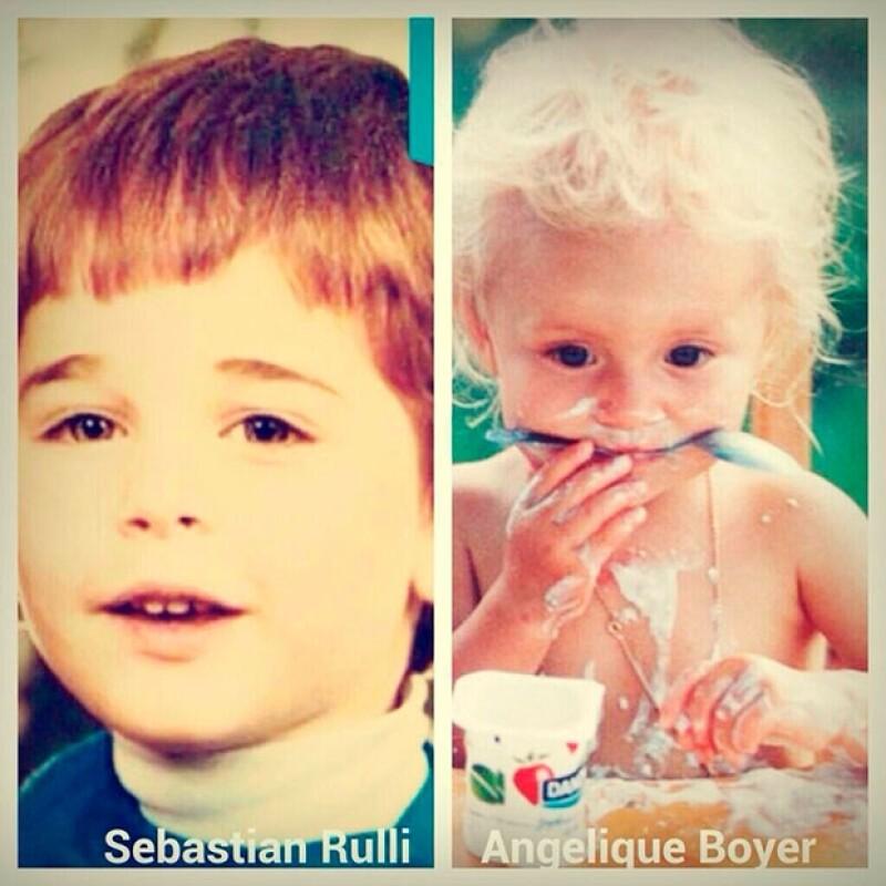 El actor compartió esta imagen de cuando ambos eran niños.