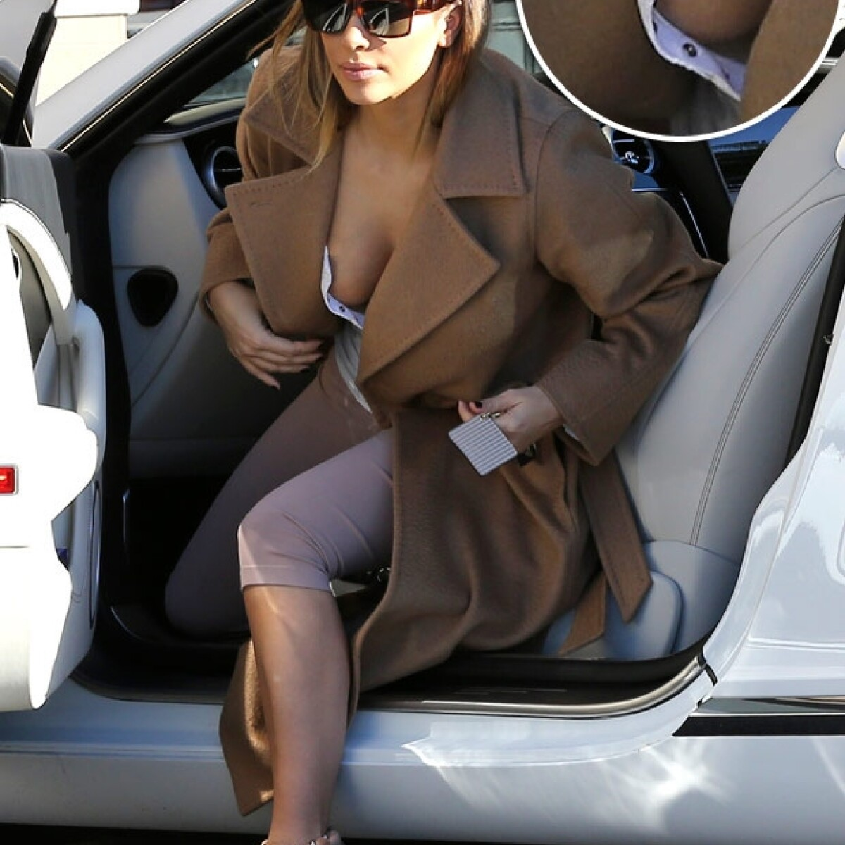 Provocador escote traiciona a Kim Kardashian