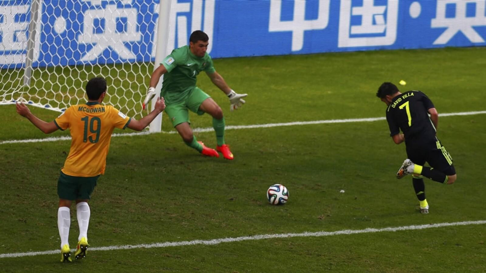 España, gol, Villa