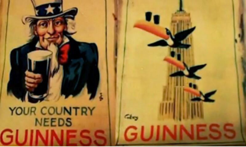 Los carteles de Guinness se mostraban en pubs y dormitorios universitarios.(Foto:CNNMoney )