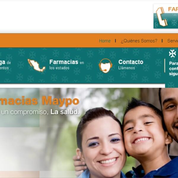 La página de Farmacéuticos Maypo proporciona a sus socios comerciales, clientes y usuarios internos, disponibilidad y confiabilidad en su información.
