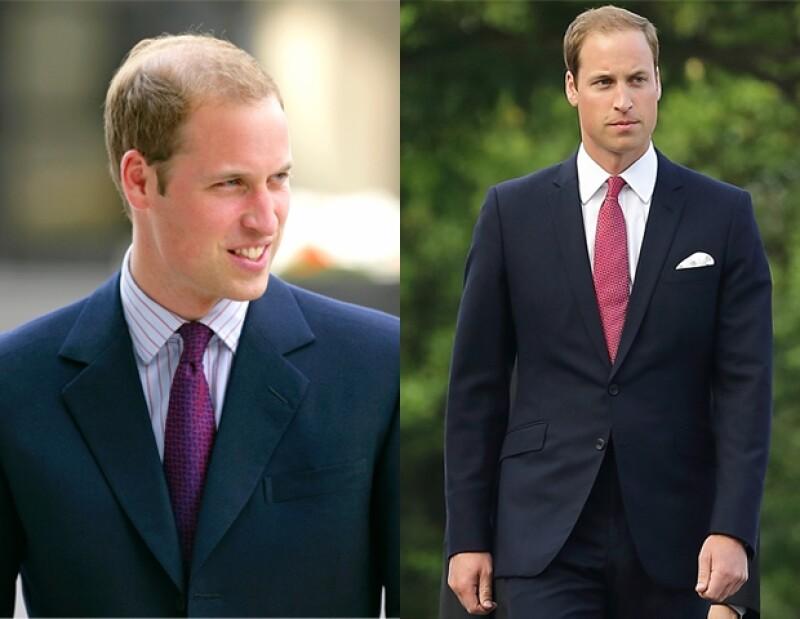 El príncipe Guillermo tiene un look más detallado y elegante desde que se casó con Kate Middleton.