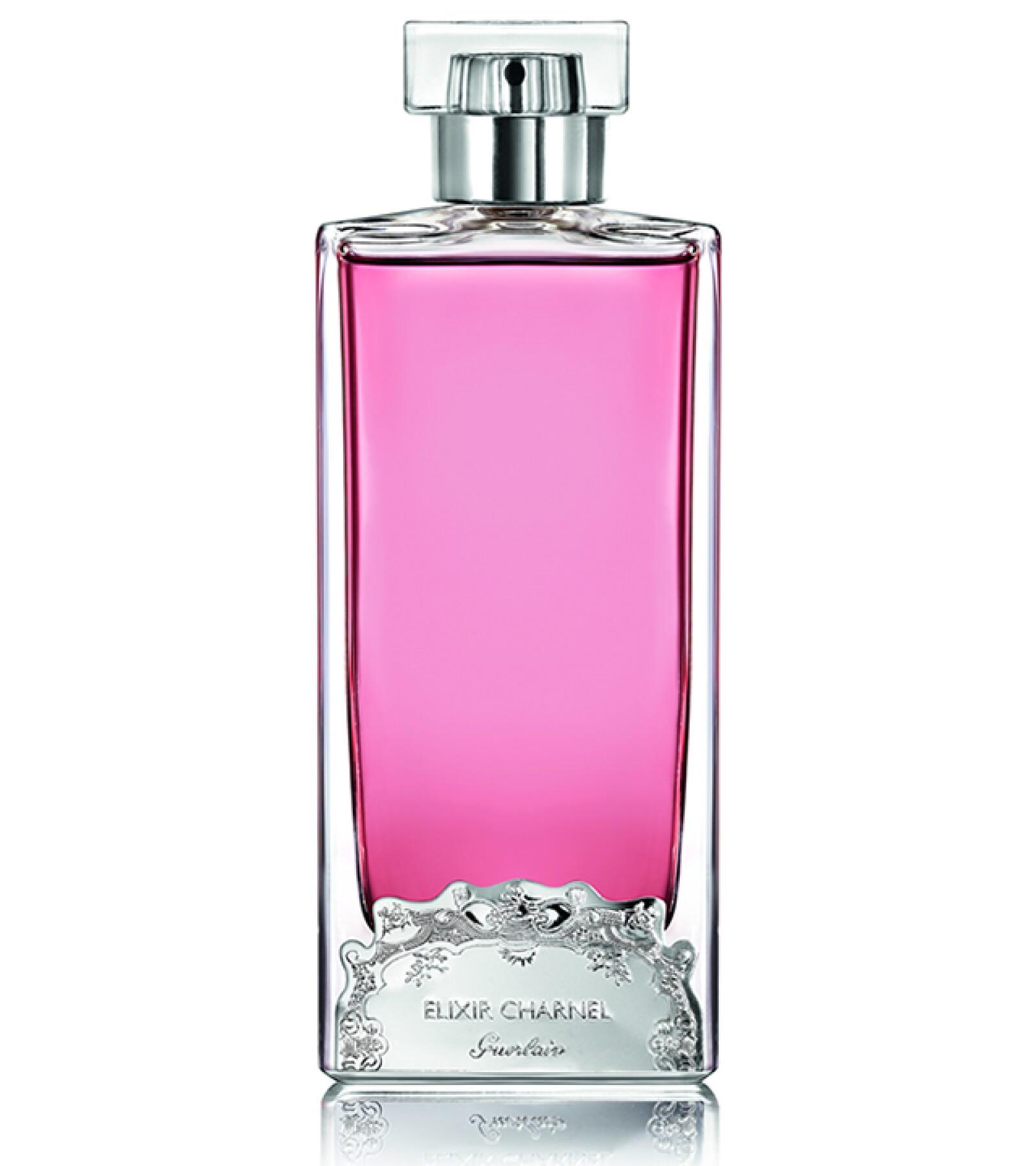 Guerlain revela su más preciado secreto de seducción con su colección Elixir Charnel de Les Exclusifs. El perfume French Kiss, te dejará sintiéndote más sensual que nunca con toques de rosa, lychee y heliótropo. El Palacio de Hierro Moliere. Precio en punto de venta.