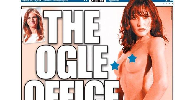 El New York Post reveló fotos de Melania Trump totalmente desnuda, en una sesión que hizo para una revista para adultos en 1995.