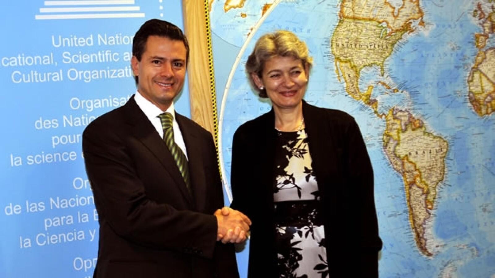 Enrique Peña Nieto visita la sede de la Unesco