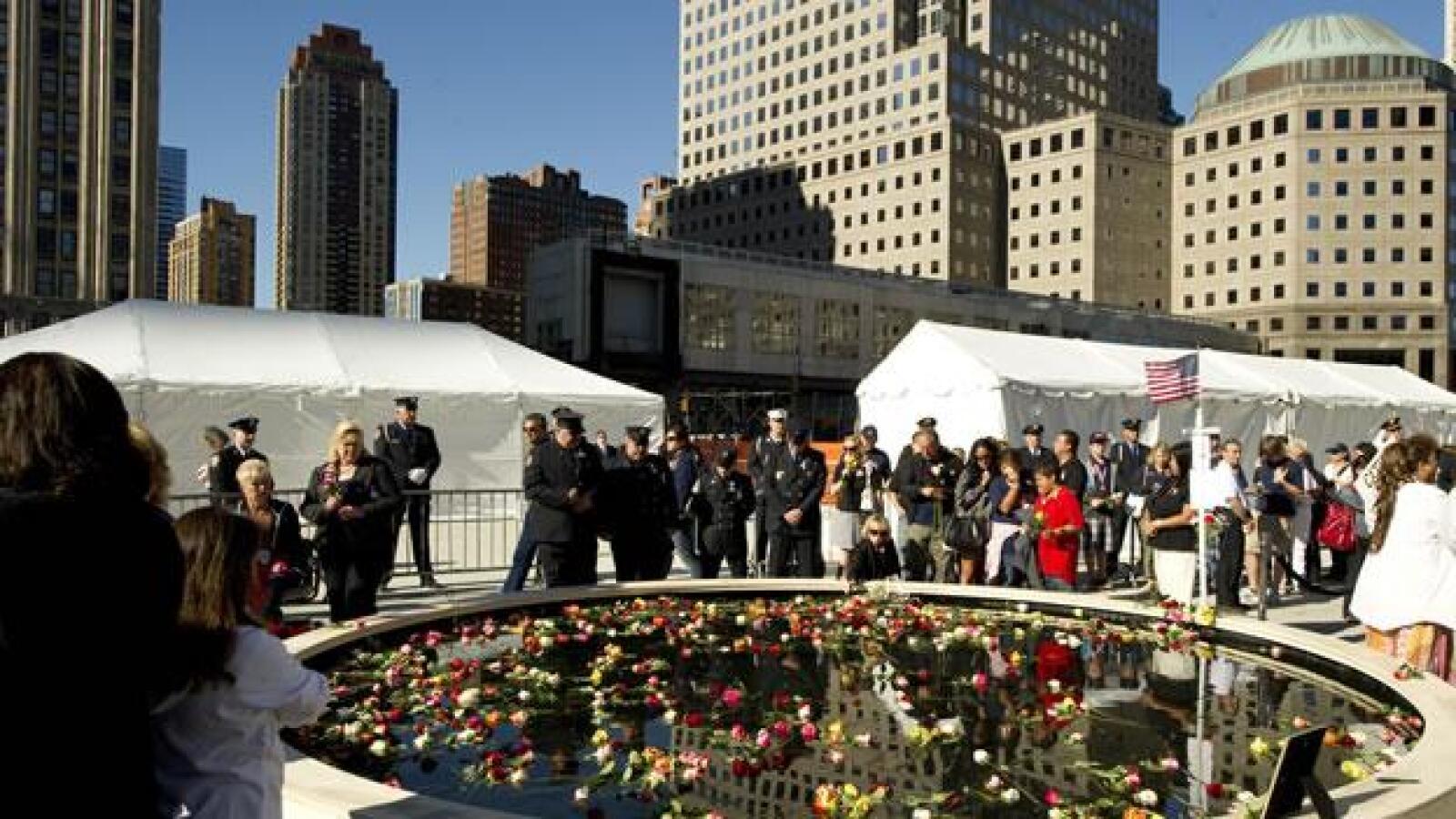 Homenaje a los muertos el 11 de septiembre