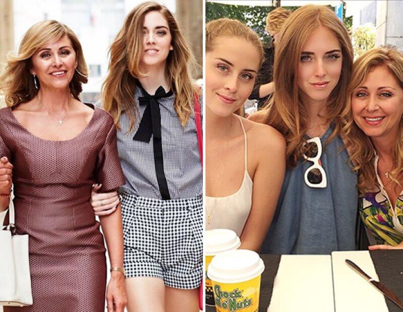 La superblogger publicó dos fotos con su mamá.