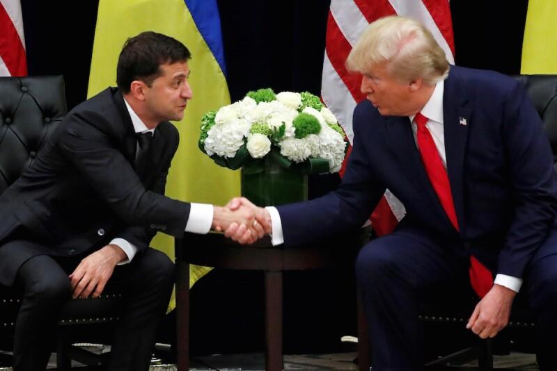Trump y presidente de Ucrania
