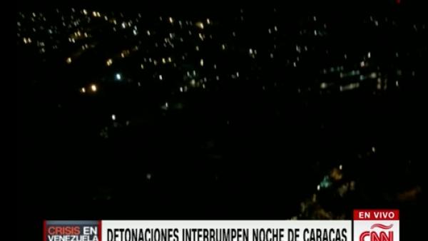 En la víspera de las manifestaciones se escucharon detonaciones en Caracas