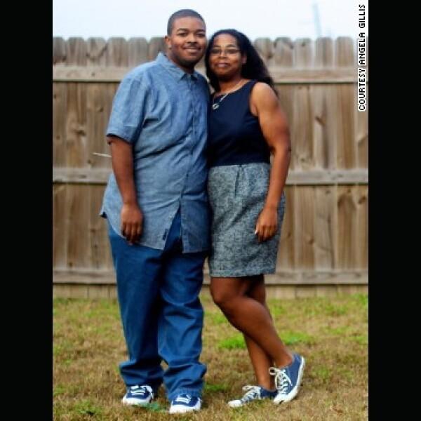Angela y Willie Gillis pareja perdio peso