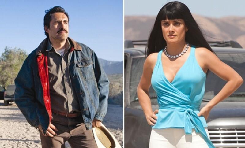 Tanto Demián Bichir como Salma Hayek han interpretado papeles en los que los migrantes mexicanos consiguen trabajos mal pagados o ilegales.