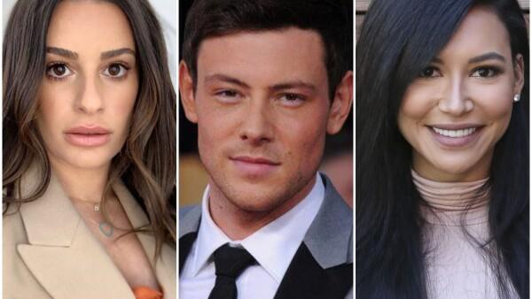 Lea Michele, Cory Monteith y Nayla Rivera.