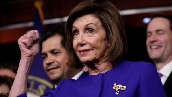 House Speaker Nancy Pelosi on USMCA trade agreement on Capitol Hill in Washington