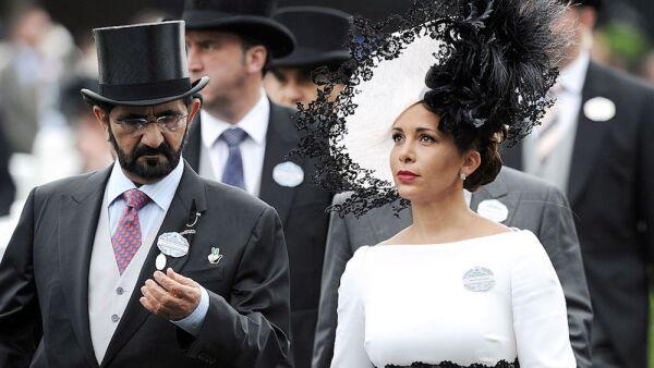 Mohamed bin Rashid Al Maktum y la princesa Haya