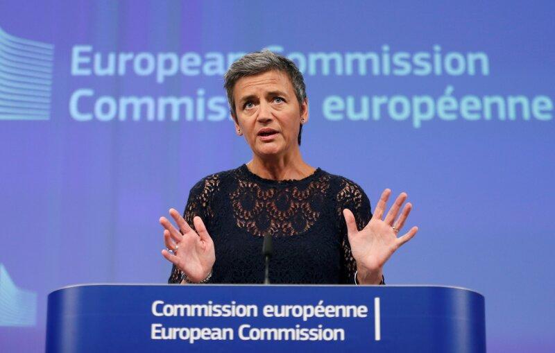 Margrethe Vestager indicó en conferencia de prensa que el comportamiento de Google limita los resultados de búsqueda de los consumidores.