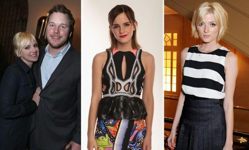 Anna Faris y Chris Pratt, Emma Watson y Sophie Sumner.