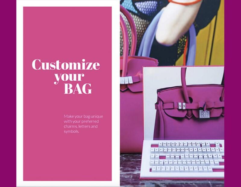 Cada cliente puede personalizar su bolsa a su gusto. Eligiendo el color, tamaño e iniciales.