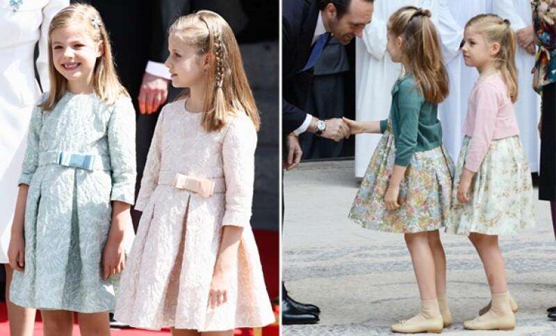 Las infantas casi siempre visten igual y son peinadas con una trenza a un lado de la cabeza.