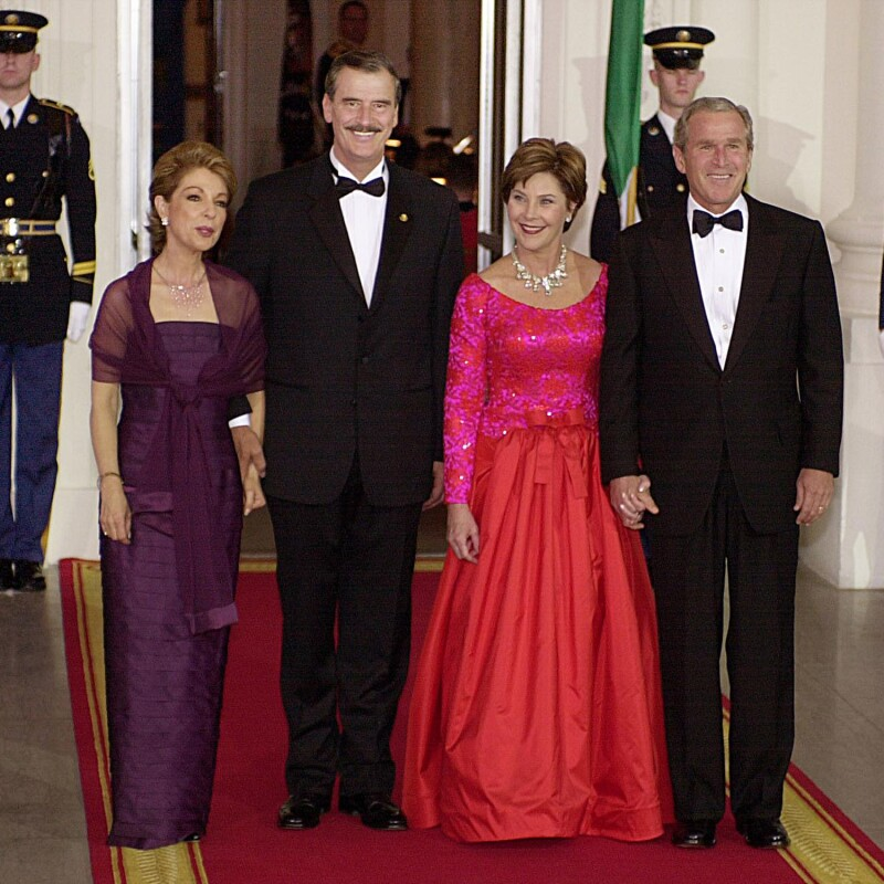George W. Bush, Vicente Fox, Marta Sahagún, Barbara Bush