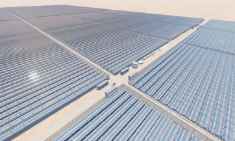 Representación artística del proyecto solar en el yacimiento petrolero Amal, en Omán. (Foto: GlassPoint Solar/ Cortesía )