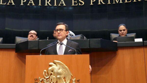 Ildefonso Guajardo en el Senado de la Rep�blica