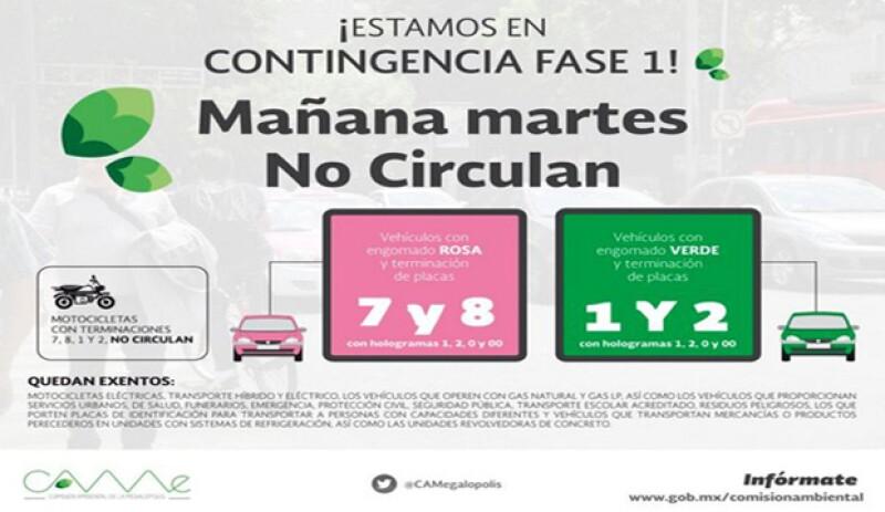 Mañana hay doble no circula, checa qué autos no podrán circular.