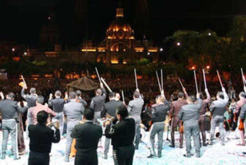 El sábado, 520 músicos de mariachi se unieron por más de 10 minutos en el estado de Jalisco. (Foto: Especial)